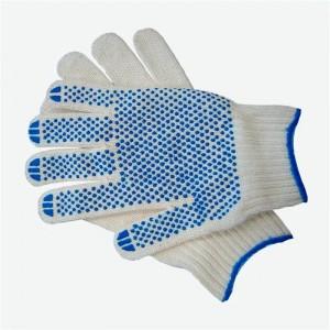 Перчатки вязаные ПВХ белые