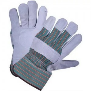 Перчатки спилковые комбинированные