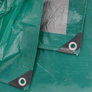 Тент  4 x 6м (Тарпаулин120г/кв.м.) зеленый/серебро